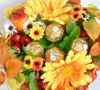 Сладкая флористика - букет из конфет